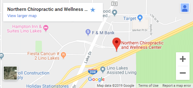 Map of Lino Lakes MN Chiropractors
